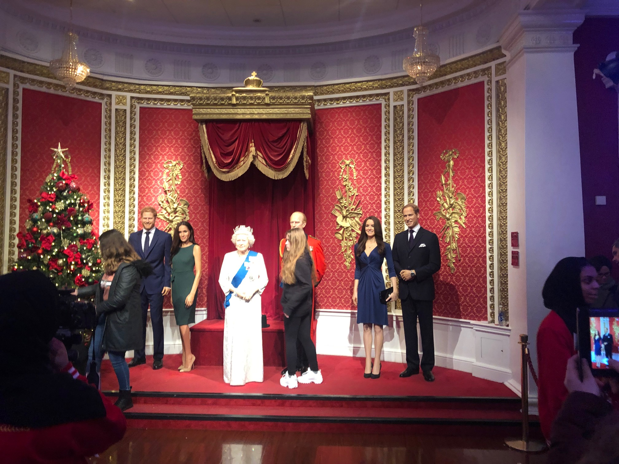 Royal Family Wax Statue at Tussauds